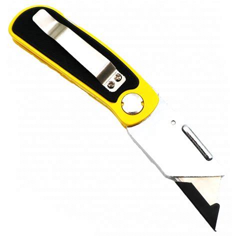 cutter lipat anti slip disposable yellow jakartanotebook