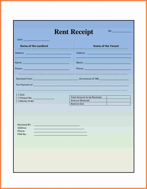 rent receipt template word 2007 4 indian rent slip format salary slip