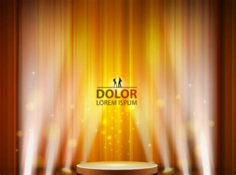 free stage background design vector yellow stage lighting background vector free download