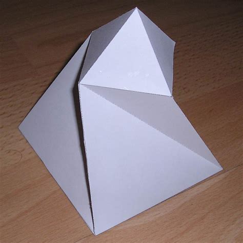 Paper Pyramid Craft - paper twisted pyramid