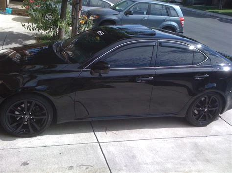 lexus is 350 rims pictures oem is350 rims painted black page 2