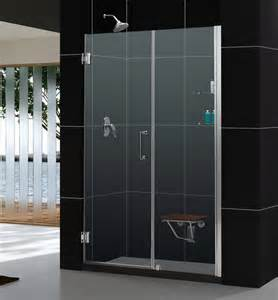 adjustable shower door unidoor frameless 54 55 quot adjustable shower door w glass