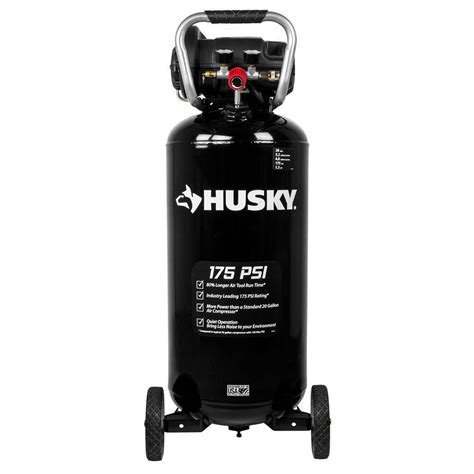 husky 20 gal 175 psi portable electric air compressor c201h the home depot