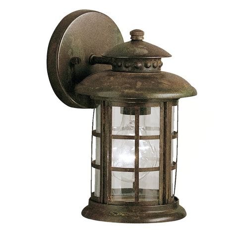 rustic outdoor wall lights shop kichler rustic 10 in h rustic outdoor wall light at