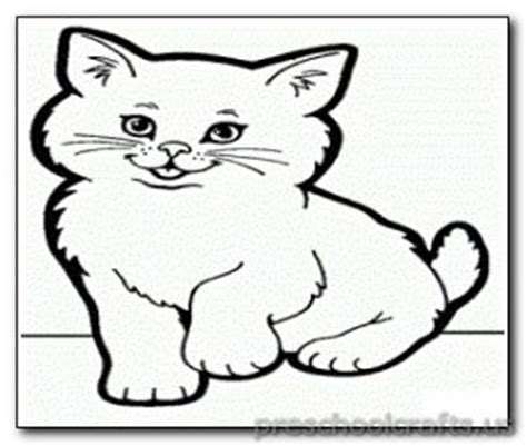 preschool coloring pages cats kitten coloring pages preschool and kindergarten
