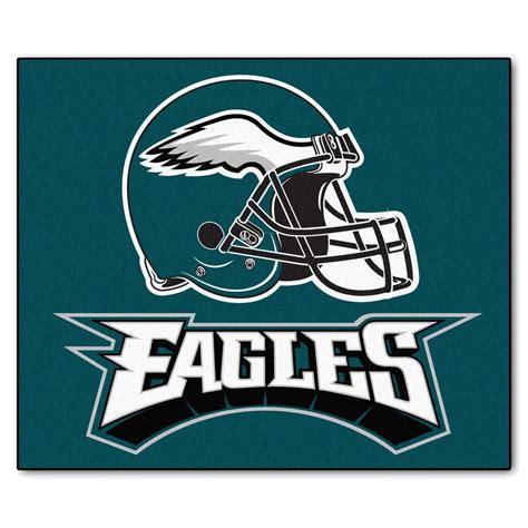 eagles rug fanmats philadelphia eagles 5 ft x 6 ft tailgater rug 5823 the home depot