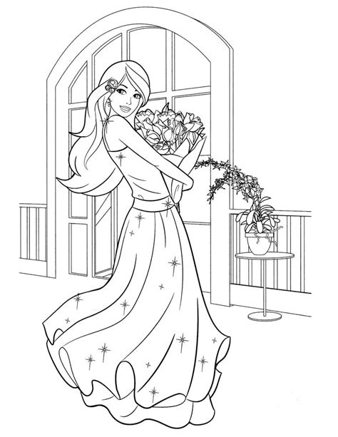 barbie birthday coloring page 25 best ideas about barbie coloring pages on pinterest
