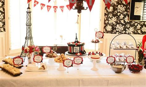 paris themed events parisian birthday party planning ideas supplies idea cake