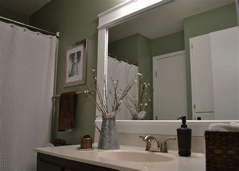 diy bathroom mirror frame diy bathroom mirror frame diy pinterest