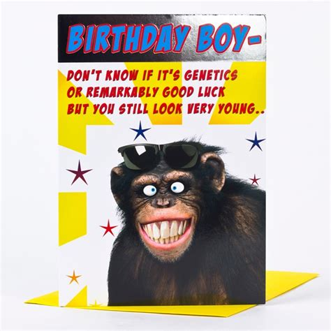 Monkey Birthday Card Template by Birthday Card Smiling Monkey Only 163 1 39