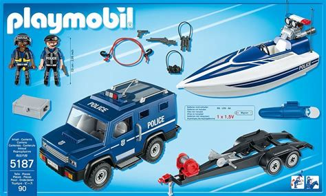 boat store va juguetes madrid playmobil 5187 macchina della polizia