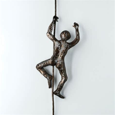 Contemporary Art Climbing Man Sculpture Wire Mesh | modern metal art climbing man sculpture wire mesh by nuntchi