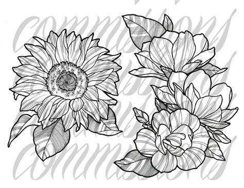 fiori traditional traditional flower drawing www pixshark