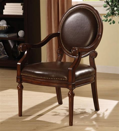 roll arm bi cast leather nailhead accent chair  overstockcom shopping great deals