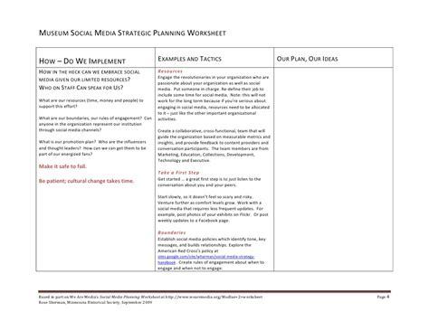 Strategic Planning Worksheet Lesupercoin Printables Worksheets Museum Strategic Plan Template