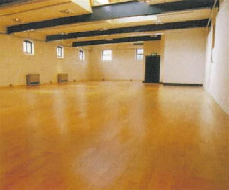 harlequin activity sprung floor with hardwood surface