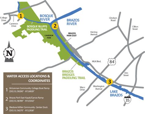 map of brazos river in brazos river paddling trails parks recreation city