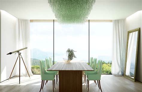 Dining Room With Green Accents Shades Of Green For The Modern Home