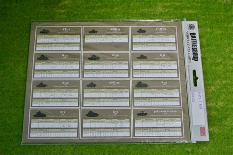 Axis Gift Card - battlegroup allied and axis data cards bgk024 arcane scenery and models