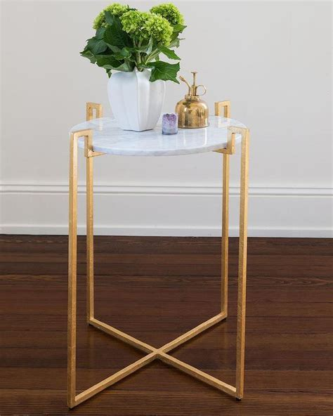 Agate Brushed Metal Side Table