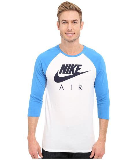 nike air 3 4 raglan in blue for lyst