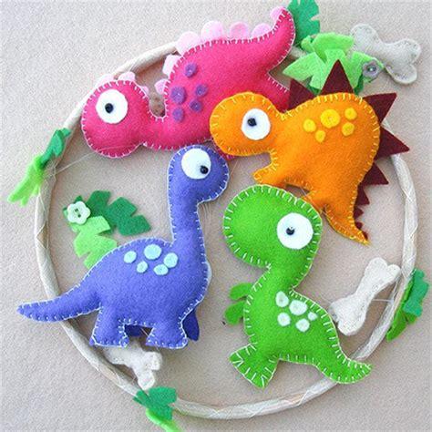 pattern for felt dinosaur home dzine craft ideas ideas for felt nursery mobile
