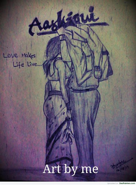 Aashiqui 2 Sketches by Pencil Sketch Of Aashiqui 2 Poster Desipainters