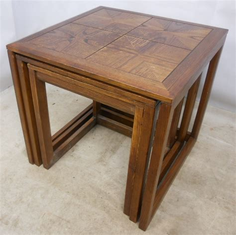 teak nest of three tables by g plan sold