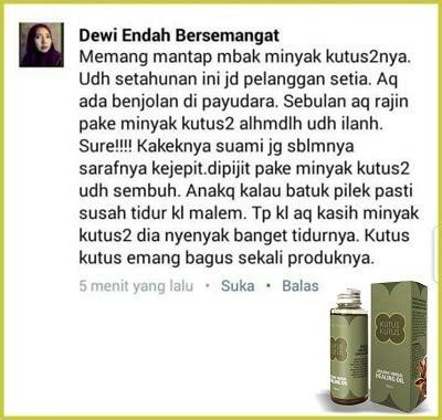Minyak Kutus Kutus Asli Original 100 100ml minyak kutus kutus herbal alami untuk semua jenis penyakit