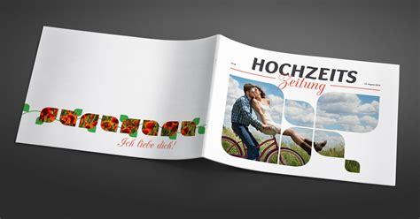 Design Hochzeitszeitung Vorlage hochzeitszeitung einladung tischkarten und fotoalbum f 252 r hochzeit