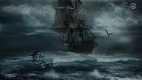 sailboat in storm storm pirate sea 183 free photo on pixabay