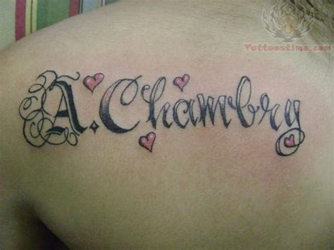 tattoo lettering shoulder back shoulder lettering tattoo