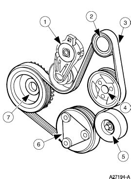 Serpentine belt diagram for 1998 ford escort