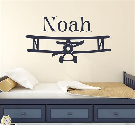 room wall decal personalized airplane wall decal