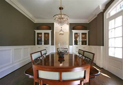 Great Dining Room Colors wainscoting a wall that has windows without casings is