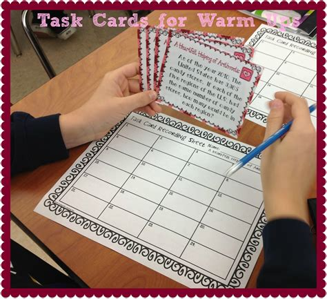 blank task card template task card corner using task cards for daily warm ups or