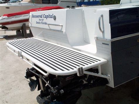boat swim platform custom dive swim platforms by action welding cape coral