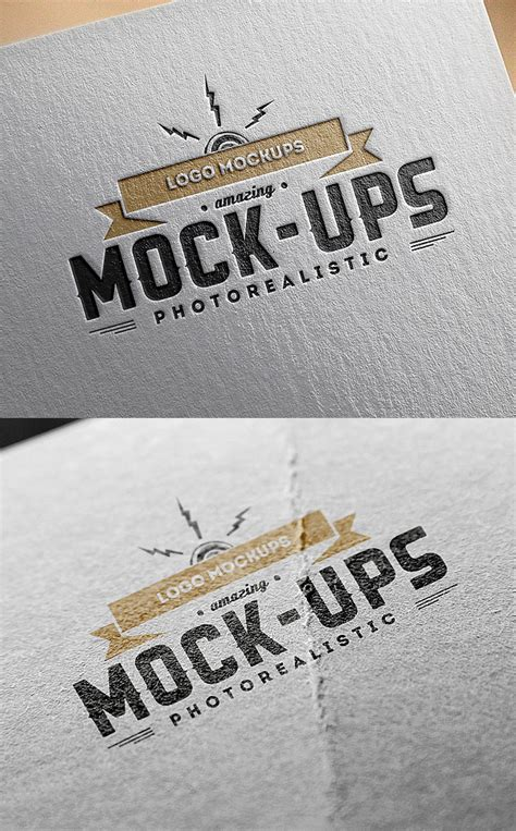 logo mockups paper edition graphicburger