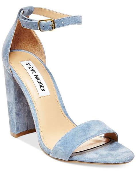 steve madden s carrson ankle dress sandals in blue glitter multi lyst