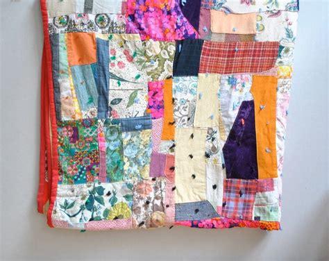 Sewn Patchwork Quilt - vintage patchwork quilt sewn quilts