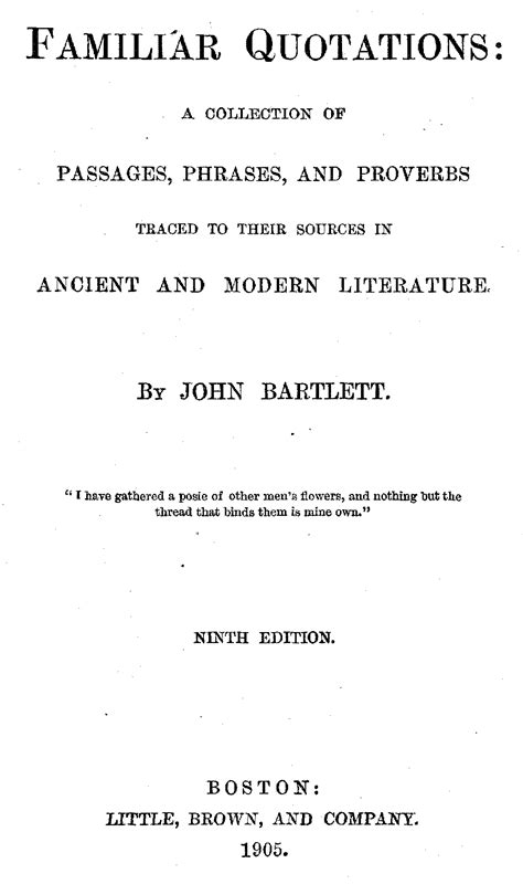 The Project Gutenberg eBook of Familiar Quotations, Ninth