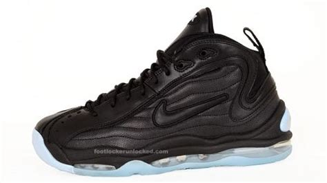 reggie miller basketball shoes nike air total max uptempo black pale blue sneakerfiles