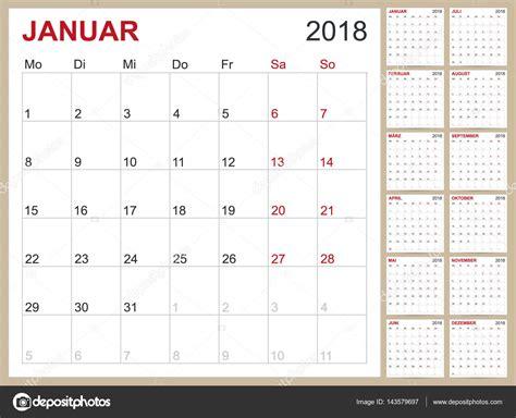 Kalender Tot 2018 Alman Takvim 2018 Stok Vekt 246 R 169 Hana11 143579697