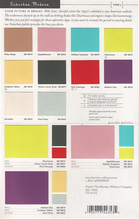 mid century modern interior colors sherwin williams