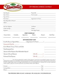 38 Awesome Catering Contract Sle Images Recipes To Cook Pinterest Catering Buffet Contract Template
