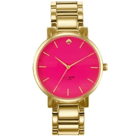 kate spade new york gold and pink gramercy grand bracelet