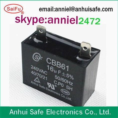 Dijamin Kapasitor 2uf 450v Ac electric fan ac capacitor cbb61 1 5uf 2uf 250v 450v capacitors passive components electronic