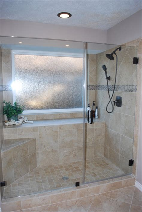 Bathroom Tub To Shower Remodel Tub To Shower Conversion After Remodel Traditional Bathroom Houston By