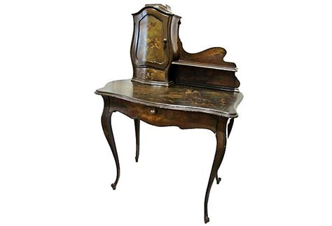 Country Chandelier Painted French Writing Desk Omero Home