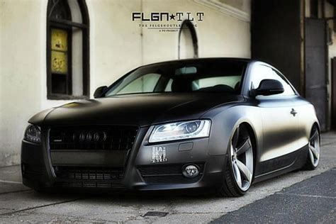 audi a5 low but flat black fast and furious